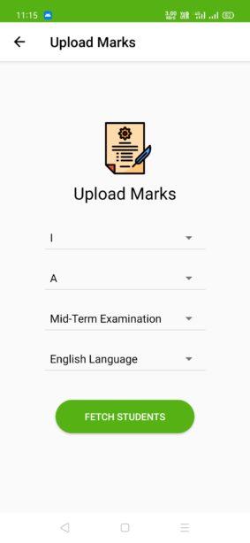 Upload Marks