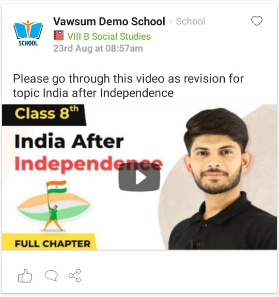Many Students do not have strong internet for Live Classes. Video reference material helps ensure 100% Learning when Teaching Online